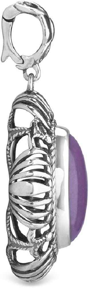 Carolyn Pollack Purple Phosphosiderite Open Scroll and Rope Pendant Enhancer