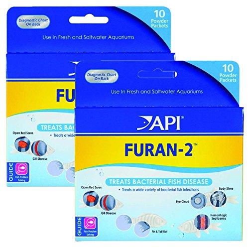 API Furan-2 Anti-Bacterial Fish Medication, 10 Packs Per Box