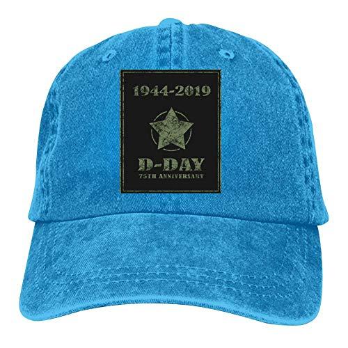 Heiazha Hipster Printed Cowboy Cap,D-Day 75th an-niversary Am-Erica F-lag Denim Hat Snapback Cap for Adult Mens Womens ()