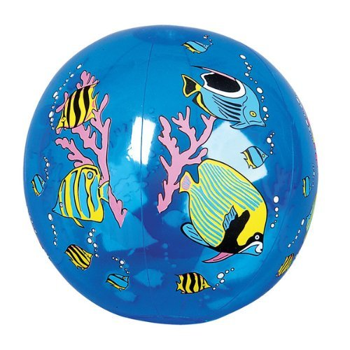 (TROPICAL FISH BEACH BALL INFLATE, Case of 12 )
