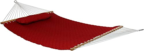 Sunnydaze 2-Person Quilted Designs Fabric Hammock