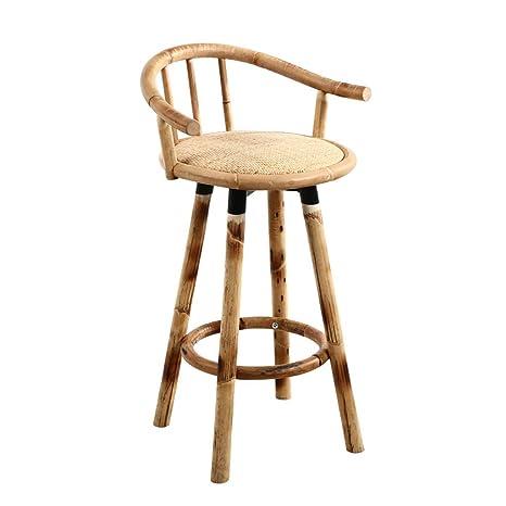 Astounding Amazon Com Ye Zi Bar Stool Bamboo Vine Wooden High Chair Bralicious Painted Fabric Chair Ideas Braliciousco