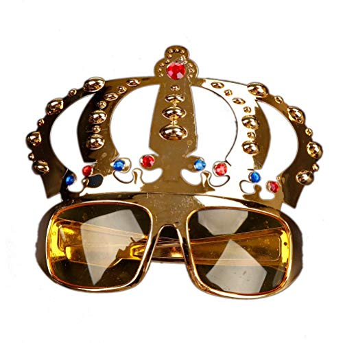 Party Masks - Decoration Beautiful Crown With Jewel Costume Glasses Electroplating Sunglasses Birthday Gift - Masquerade Masks Headbands White Superhero Glasses Party Wear Male Kids Bulk -