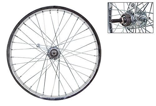 Wheel Master Rear Bicycle Wheel 20'' x 2.125, 36H, Steel, Bolt On, Silver by WheelMaster