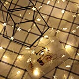 LED Fairy Lights, Christmas Wire String Lights, Wrought Star Light Fairy Hang Wedding Bedroom Patio Decor (2M 20LED Button battery section)