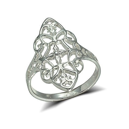 Sterling Silver Filigree Victorian Style Ring, Size (Victorian Silver Filigree)