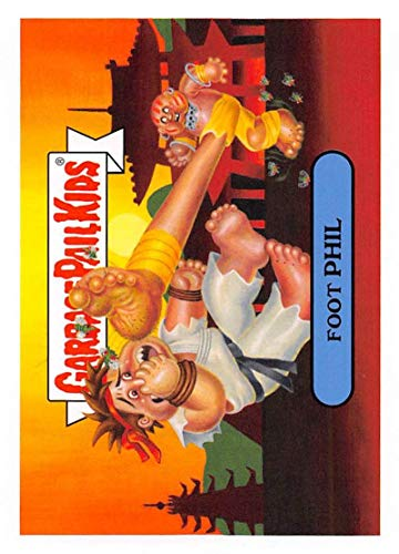 2019 Topps Garbage Pail Kids We Hate the '90s Video Games Sticker #3b FOOT PHIL Sticker Trading Card