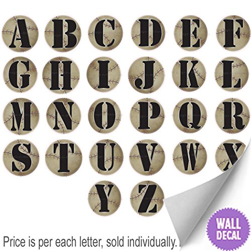 Wall-Letters-Baseball-Letter-Stickers-Alphabet-Initial-Vinyl-Sticker-Kids-Decals-Childrens-Room-Decor-Baby-Nursery-Boys-Bedroom-Decorations-Childs-Names-Personalized-Decal-Graphics-Sports-Balls-Girls