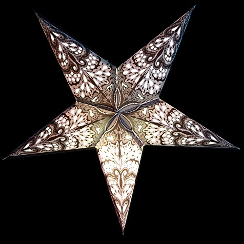 24 white rain paper star