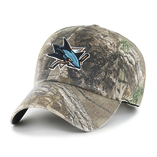 NHL San Jose Sharks Realtree OTS Challenger Adjustable Hat, Realtree Camo, One Size (Jose San Hats)