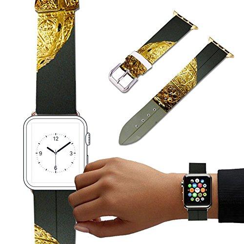 - For Apple Watch, Natural color Floral Printed Leather Watch Band 38mm 42mm Strap for Apple Watch 3, 2, 1 Flower Design Wrist Watch iwatch Bracelet-534.Parade Helmet, Agris, France