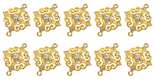YYaaloa 27mmx33.5mm Jewelry Connector Cross Beautiful Fashion Bead Charms Pendant for Crafting Jewelry Making Accessory (Gold 10pcs)