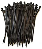 "8"" Cable Ties. Premium Nylon Wire Management Zip-ties. Several colors available in 1,000 piece pack or Bulk Wholesale Case Quantity. 50 LB Tensile. USA Strong Cable Ties (8'' 1000 Pack, Black)"