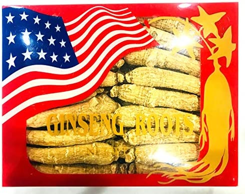 American Wisconsin Ginseng Root Long Thin 6-8 Year 4 Oz. 1 Box 4 oz