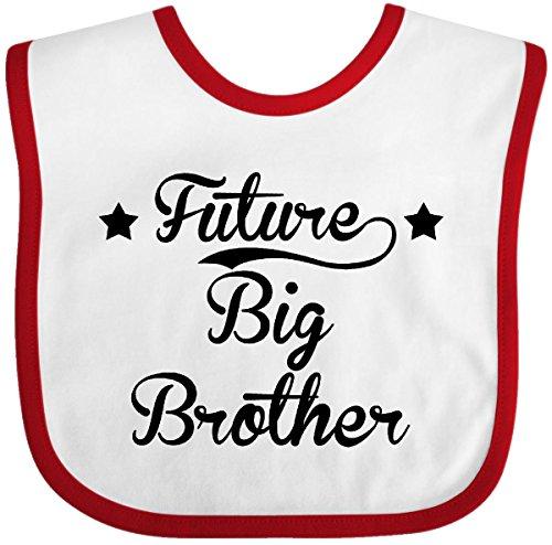 Inktastic - Future Big Brother Baby Bib White/Red (Big Brother Bib)