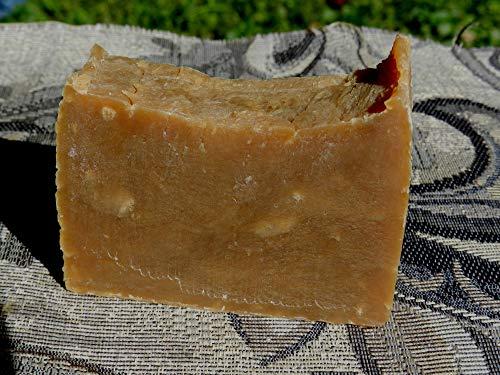 Light Pine Tar Bar Soap. Handmade Traditional Lard and Lye. Scent Masking. Palm and Latex Free Bar -