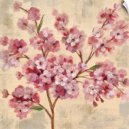 Used, CANVAS ON DEMAND Pink Cherry Branch II Wall Peel Art for sale  Delivered anywhere in USA