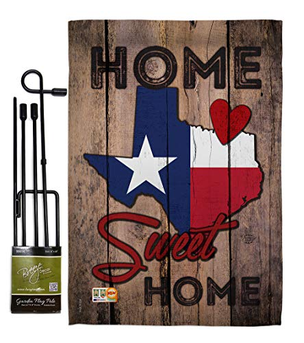 - Ornament Collection GS191119-BO State Texas Home Sweet Home Americana States Impressions Decorative Vertical 13