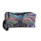 Hippie Hip Hop Toiletry Bag Cosmetic Bag Accessory Case Anti-bacterial For Women