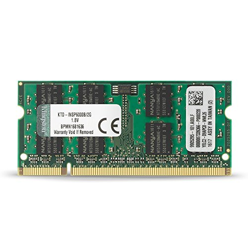 Kingston 2 GB DDR2 SDRAM Memory Module 2 GB (1 x 2 GB) 667MHz DDR2 SDRAM 200pin KTD-INSP6000B/2G