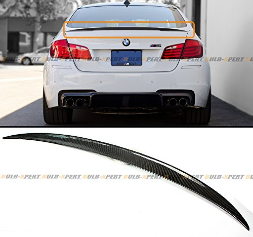 (Cuztom Tuning Fits for 2011-2016 BMW F10 5 Series 535i 528i & M5 Real Carbon Fiber Performance Style Trunk Lid)