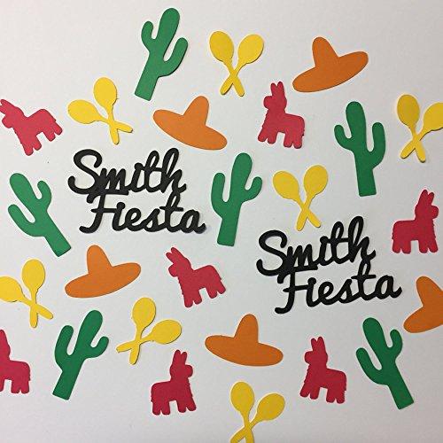 Table Decor Party Decor Personalized Fiesta or Cinco de Mayo Confetti