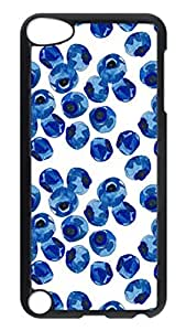 Brian114 Case, iPod Touch 5 Case, iPod Touch 5th Case Cover, Delicious Blueberry Retro Protective Hard PC Back Case for iPod Touch 5 ( Black )