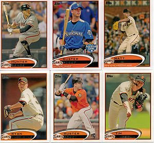 MEGA SET - 32 Cards of the 2012 WORLD SERIES CHAMPS! 2012 Topps San Francisco Giants Complete Master Team Set (Series 1,2, and Update) - 32 Cards Includes Scutaro, Lopez, Cabrera, Hensley, Casilla, Posey, Theriot, Affeldt, Pence, Pagan, Sandoval, Cain (Champ Uniform)