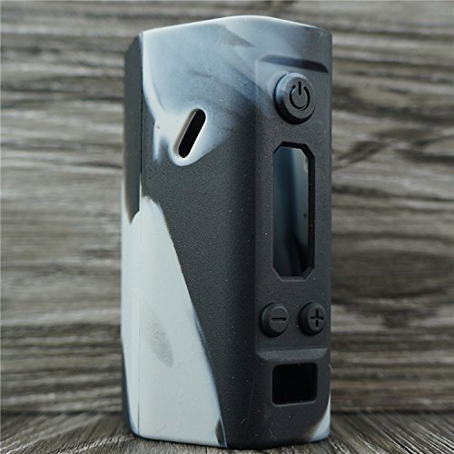 Silicone Case for Wismec Reuleaux RX200 Sleeve Cover Skin Wrap (Grey/Black)