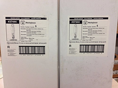 12 PIECES WESTINGHOUSE 3744400 LU250/S50 250W CLEAR ET18 HIGH PRESSURE SODIUM BULB by Westinghouse
