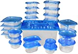 Food Storage Container Set of 27 pcs - Blue - BPA Free - Reusable - Environment Friendly - Multipurpose Use for Home Kitchen or Restaurant - by Utopia Kitchen ()
