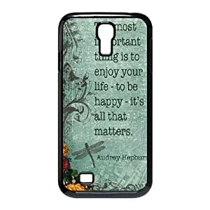 Audrey Hepburn Quotes Personalized Cover Case for SamSung Galaxy S4 I9500,customized phone case ygtg-780869