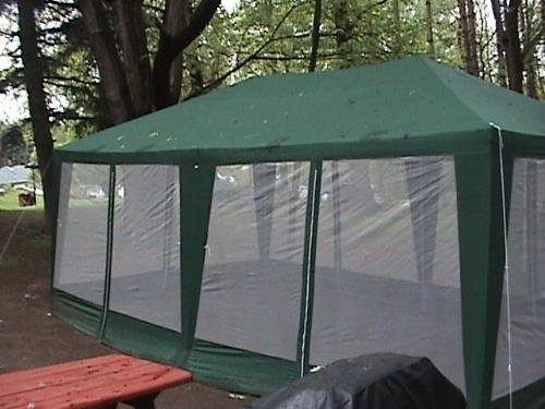 Amazon Deluxe Party Tent 20x12 Hunter Green Sports Fan Canopies Outdoors