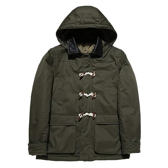 New Men/'s Winter Warm Coat Hooded Parka Outerwear Zip Up Jacket Windbreaker Size