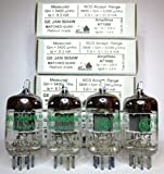 Riverstone Audio - Matched Quad GE JAN 5654W Fully-Tested Vacuum Tubes 6J1 / 5654 /6AK5/ EF95 / 6AK5 Tube Replacement