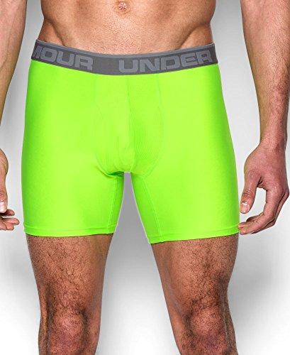 "Under Armour Men's Original Series 6"" Boxerjock, Hyper Green/Steel, Medium"