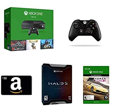 xbox one 1tb console 3 games bundle 50 gift card physical card. Black Bedroom Furniture Sets. Home Design Ideas