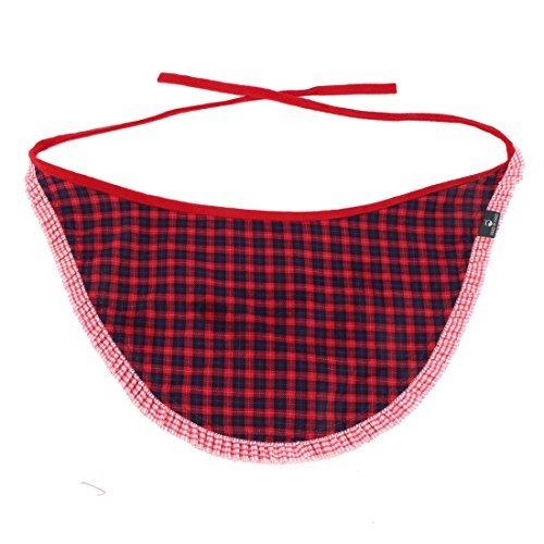 eDealMax Tela escocesa Impreso Ajustable Collar de la Correa del Animal domstico de la bufanda de Cuello de perro pauelo Rojo