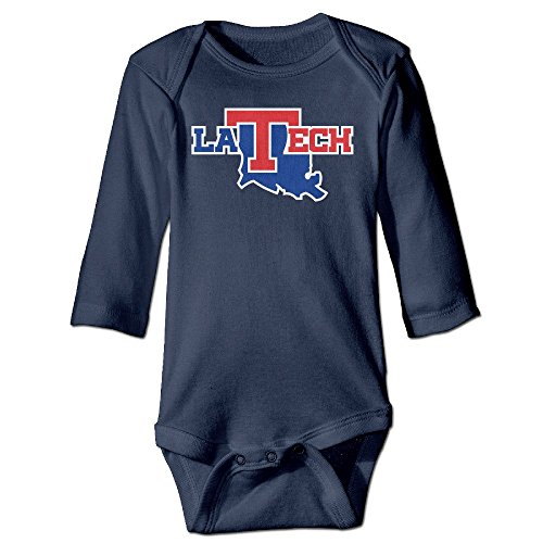 [DELPT Louisiana Tech University Bulldogs Cute Boy & Girl Infants Romper Jumpsuit 12 Months Navy] (Blue Bull Mascot Costume)