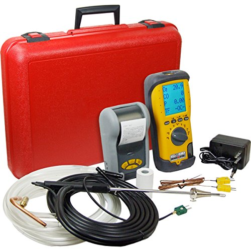UEi Test Instruments C257KIT-N LL EOS Industrial Combustion Analyzer with NOX Kit, NIST-Calibrated (Ll Combustion Analyzer)