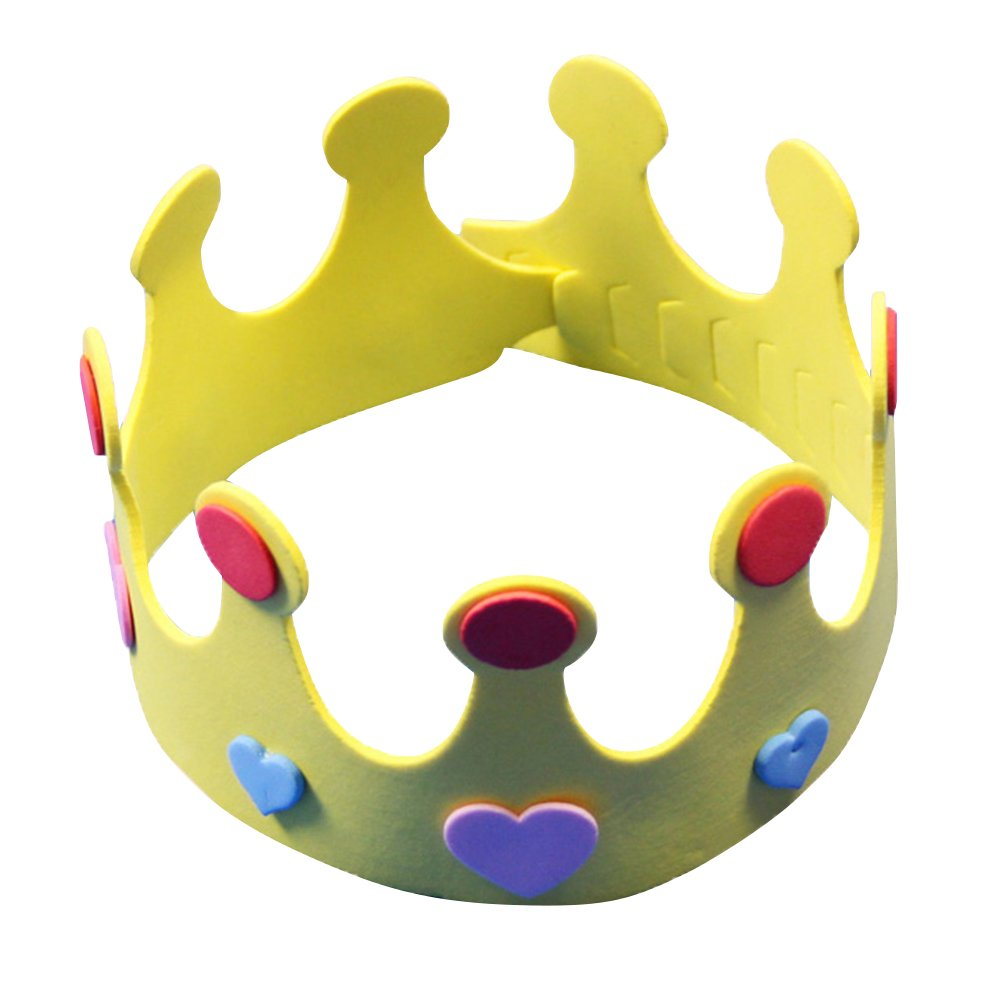 12 Pieces NUOLUX Party Hats Birthday Hats DIY Crown Hat Nursery Crown Hat for Kids Random Color
