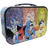 """WL SS-WL-25553 Batman, Super-Man, & Wonder-Women """"Super Friends"""" Tin Tote, 10"""""""