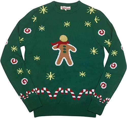 Costumes That Start With G (Digital Dudz Gingerbread Snack Digital Christmas Sweater - size Small)