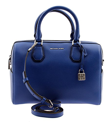 MICHAEL KORS Mercer Medium Leather Duffel in Elctric Blue, 30H6SM9U2L by Michael Kors