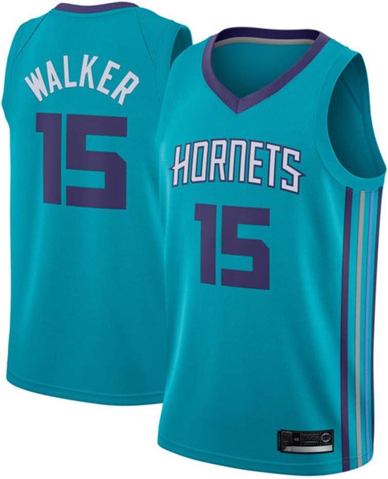 OLIS Hombre Mujer NBA Charlotte Hornets 15# Walker Retro T-Shirt ...
