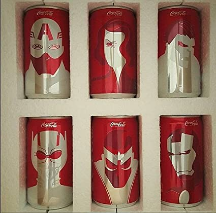 official photos 63991 67158 Amazon.com : Marvel Coca Cola Collectible Mini Cans (6 ...