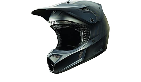 Amazon.es: Fox Racing, color negro mate hombre V3 Motocross Motocicleta Casco - mate negro/grande