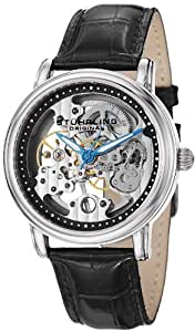 Stuhrling Original Men's 458G.33152SET Classic Delphi Mechanical Skeleton Silver Dial Watch Set