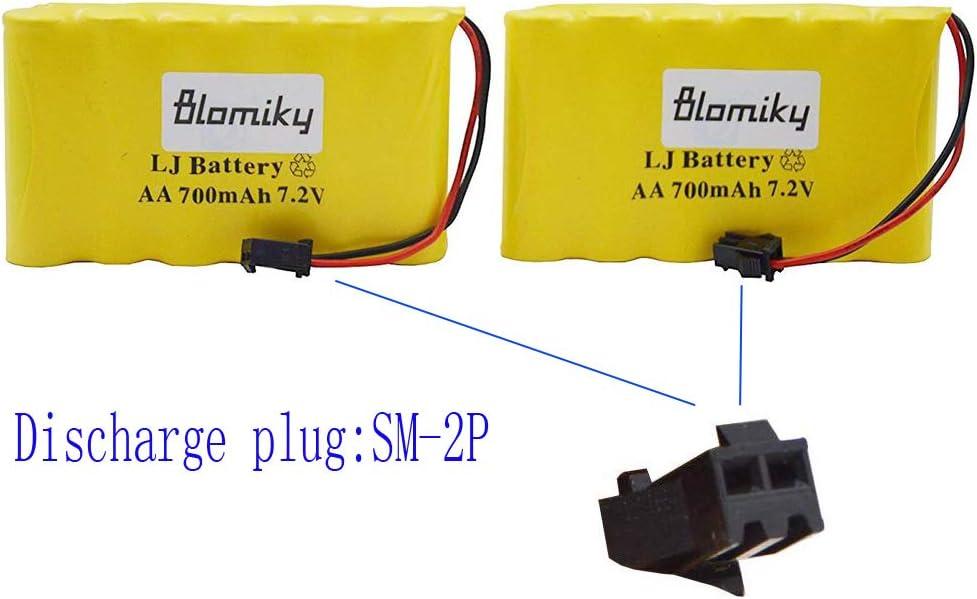 Bateria AA 7.2V 700mAh Ni-Cd con conector SM 2P Plug