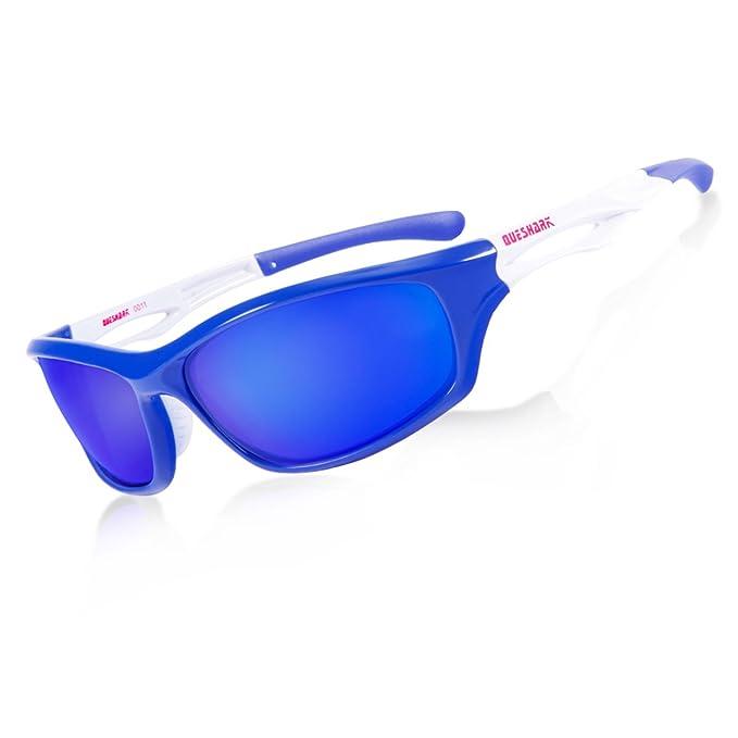 Queshark Gafas de sol deportivas Polarizado conducción gafas de sol para hombres mujeres TR 90 irrompible